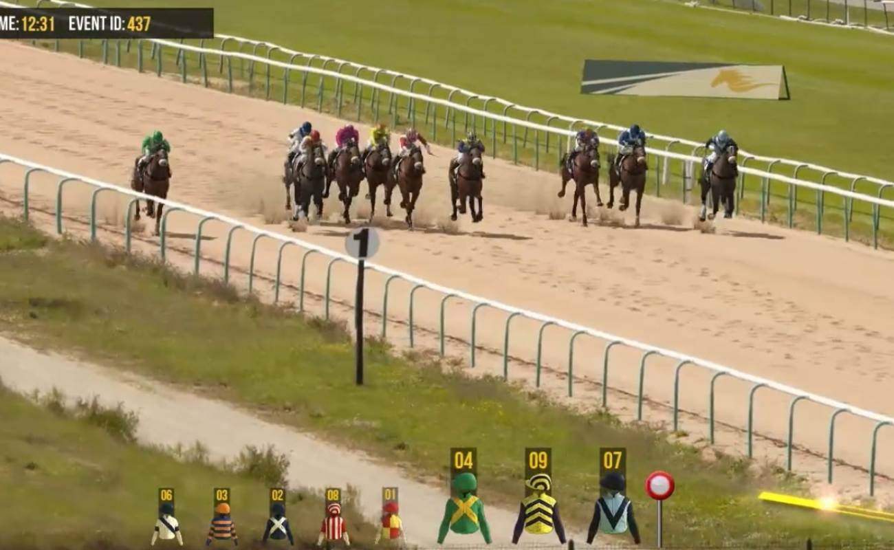 Screenshot of Horses 2 Sprints by Virtual Inspired.
