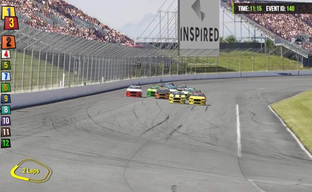 Screenshot of Stock Cars by Virtual Inspired.