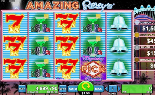 Screenshot of the reels in Amazing Ripley's, an online slot by Spin Games.