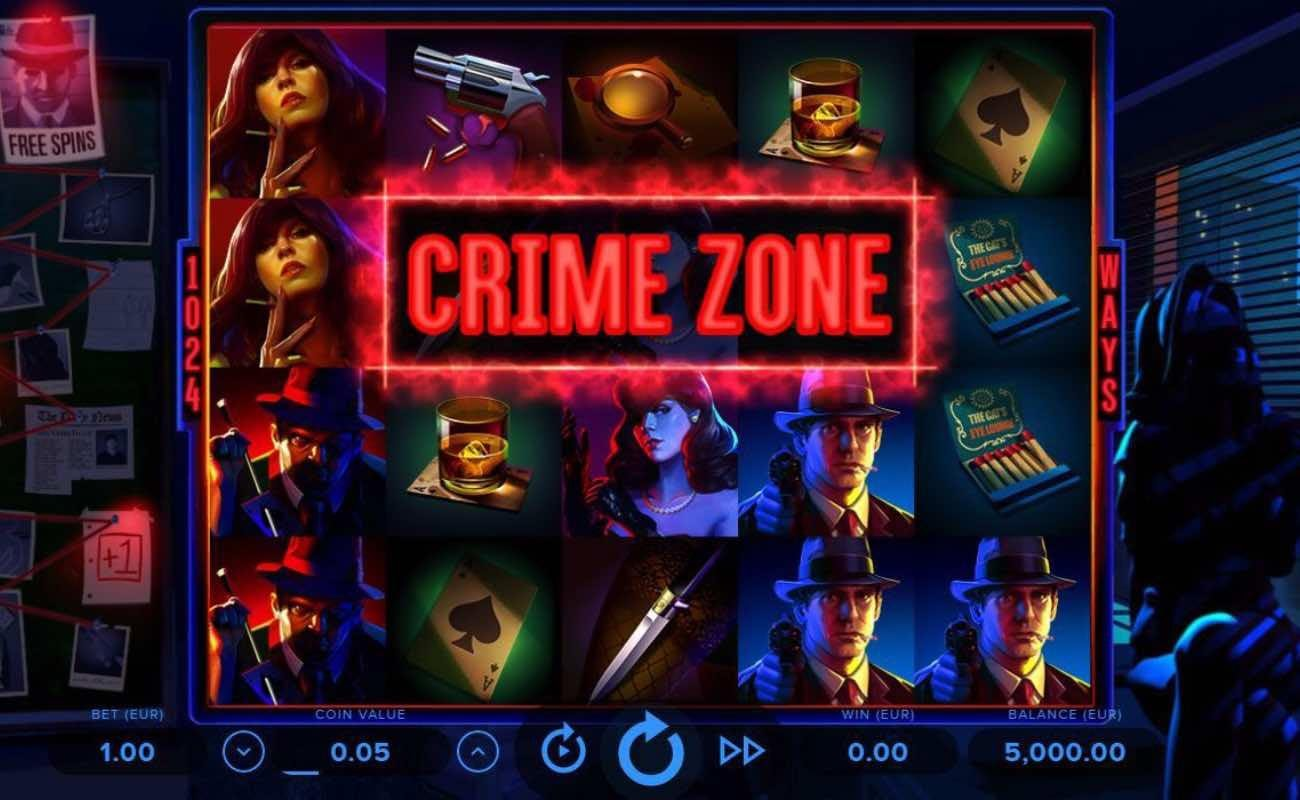 Screenshot of the reels in Cash Noire, an online slot by NetEnt.