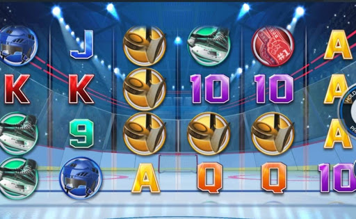 Screenshot of the reels in Jagr's Super Slot by Inspired Gaming.