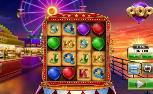Screenshot of the reels in Pop, an online slot by NYX/BGT.