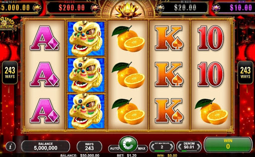 Screenshot of the reels in Spring Fortune, an online slot by Spin Games.