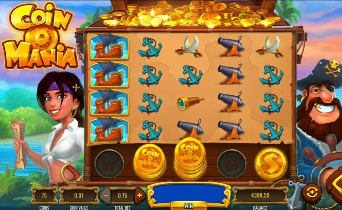 Screenshot of the reels in Coin O Mania online slot.