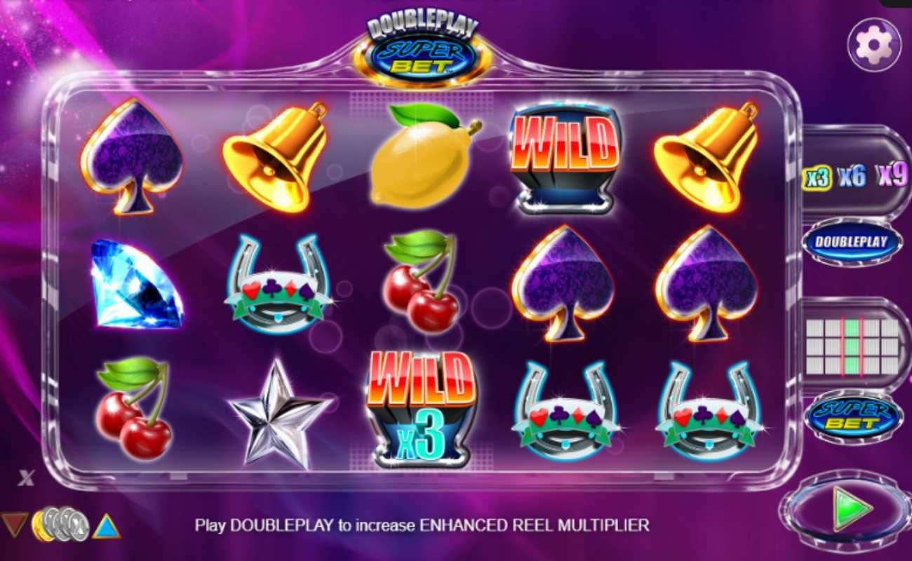 Screenshot of the reels in Doubleplay Superbet online slot.