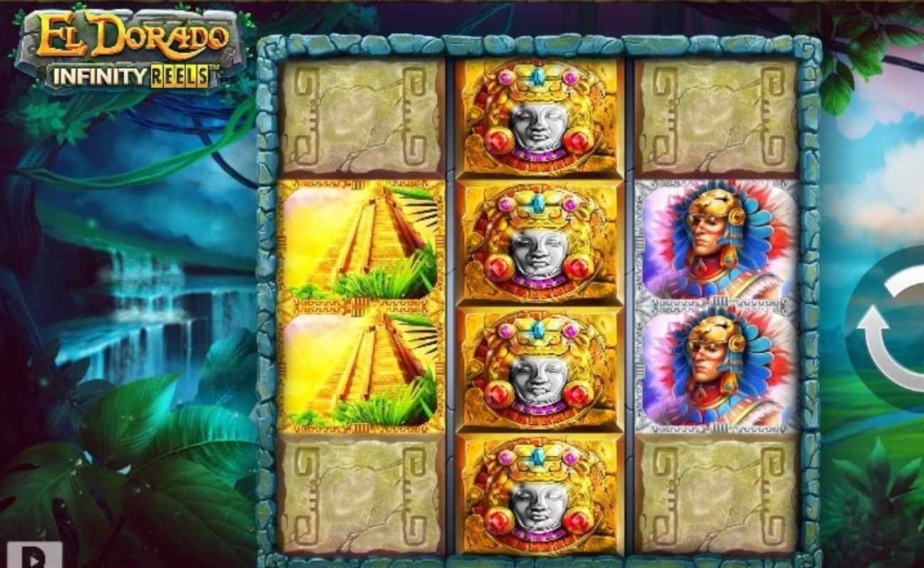 Screenshot of the reels in El Dorado Infinity Reels online slot.