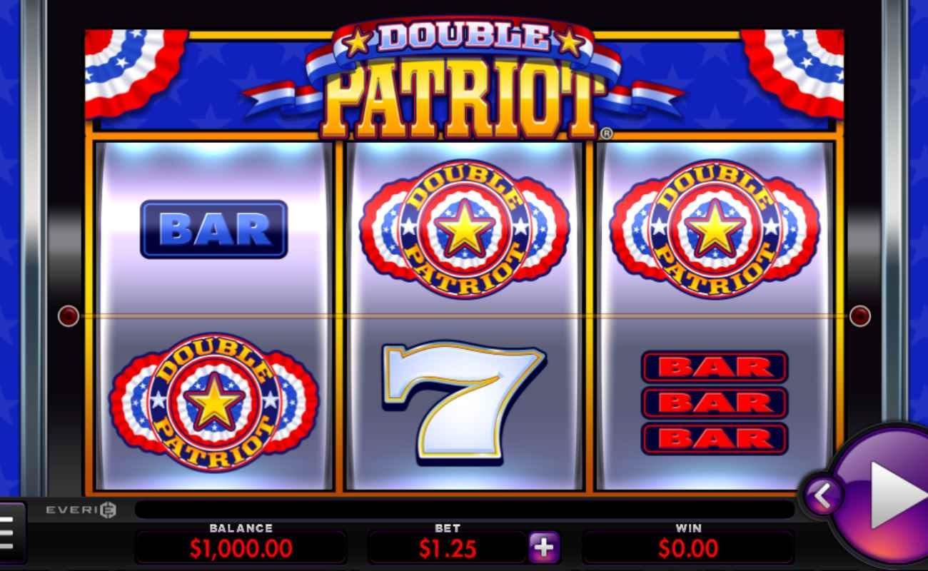 Screenshot of the reels in Double Patriot online slot.