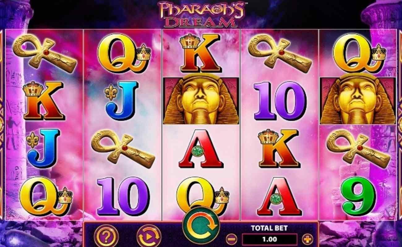 Screenshot of the reels in Pharaoh's Dream online slot.