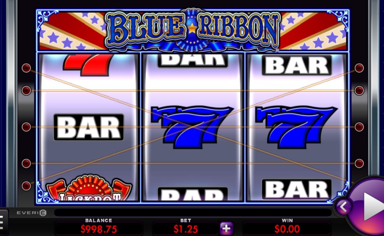 Screenshot of the reels in Blue Ribbon online slot.
