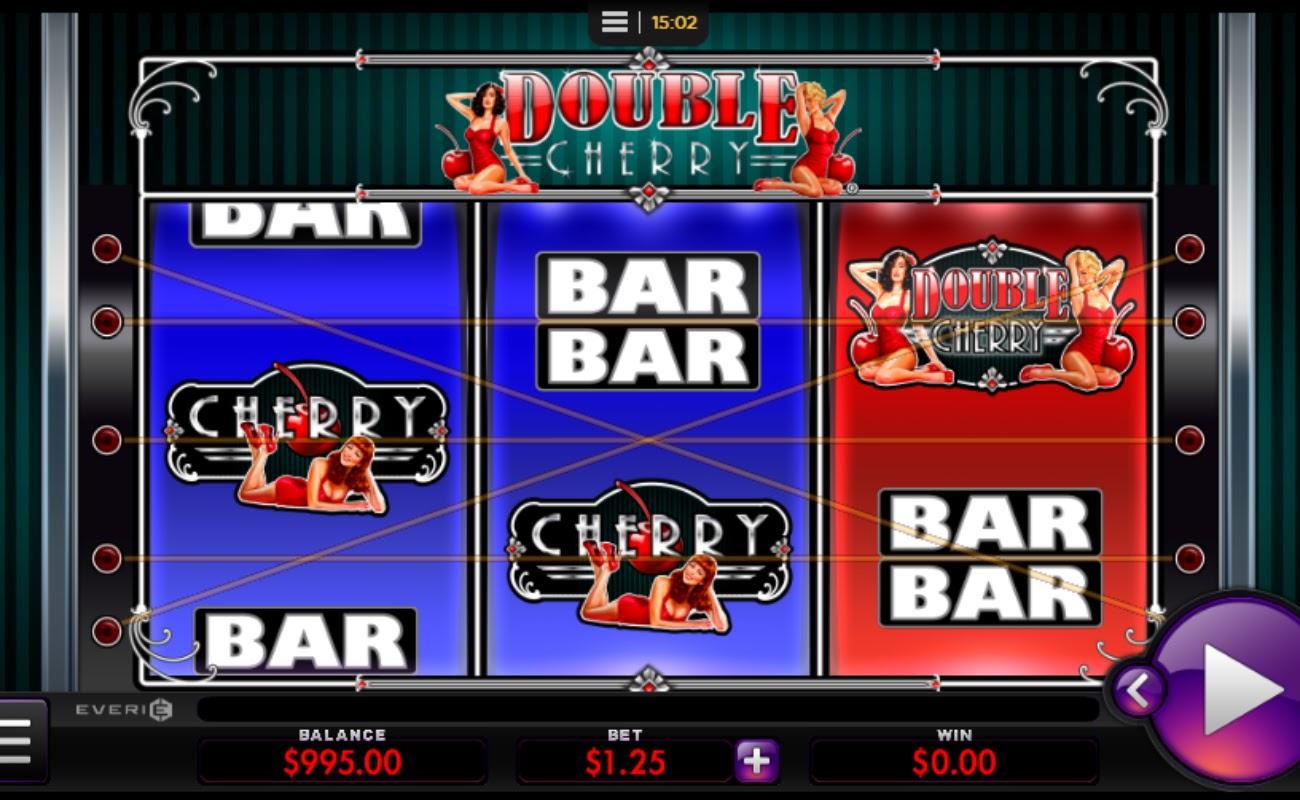 Screenshot of the reels in Double Cherry online slot.