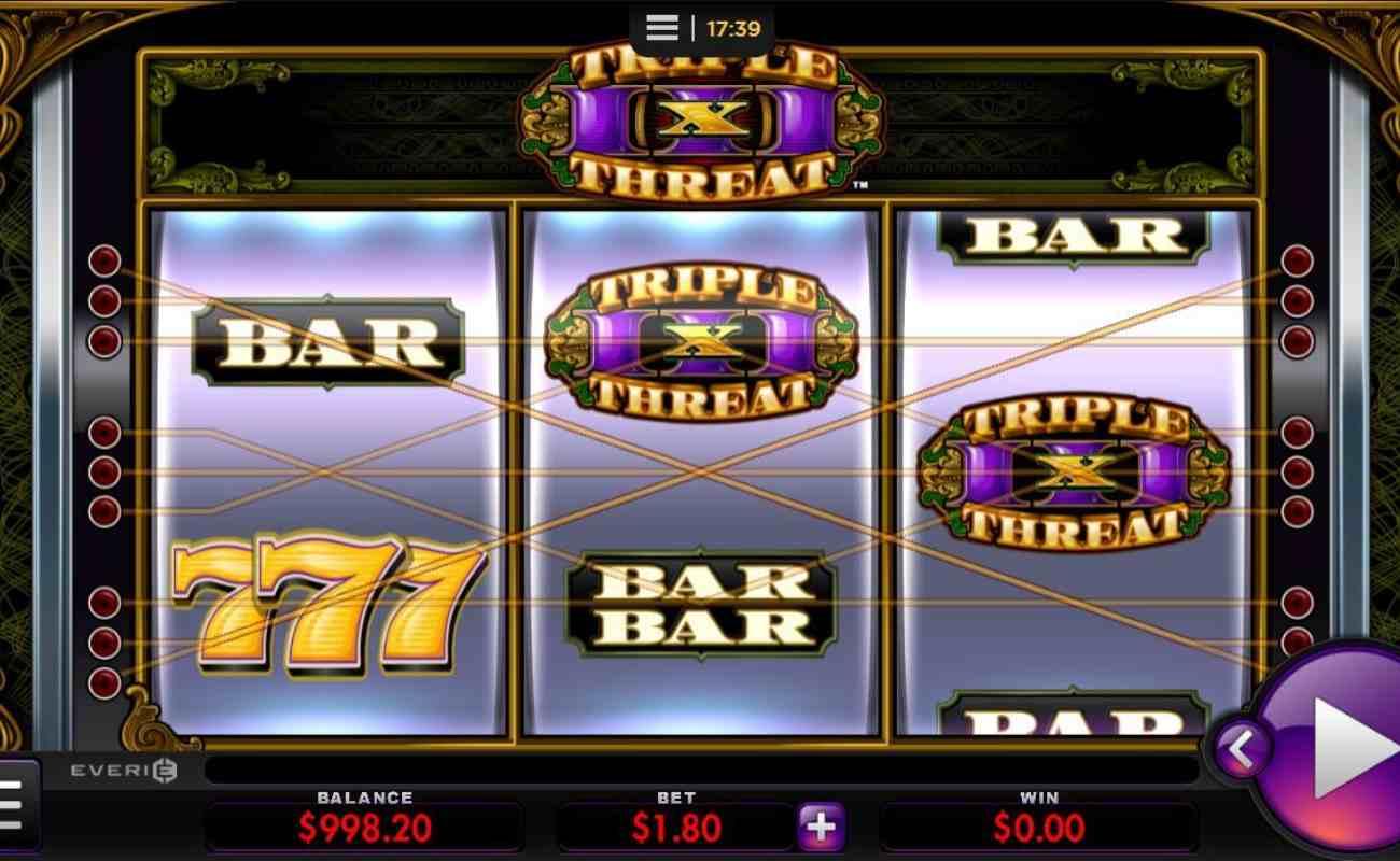 Triple Threat online slot by Everi