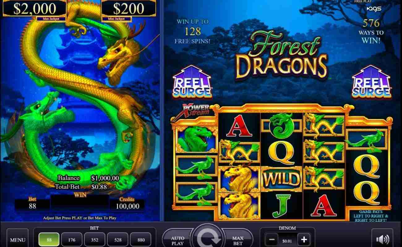Forest Dragons online slot by AGS