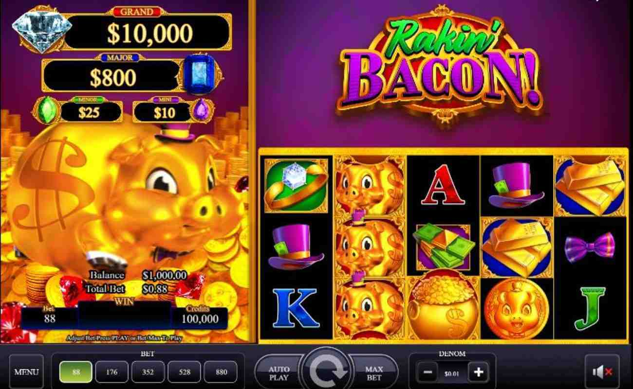 Rakin' Bacon online slot game by AGS
