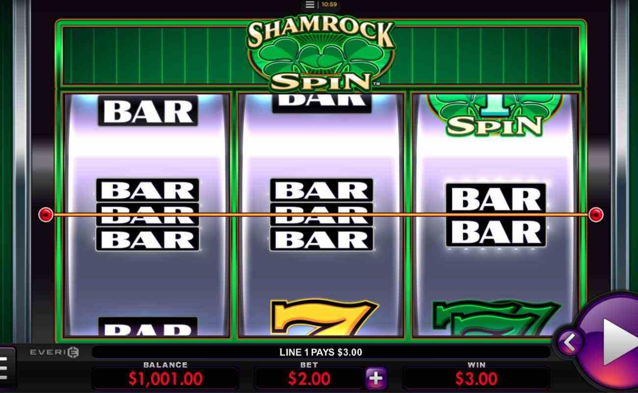 Shamrock Spin online slot by Everi.