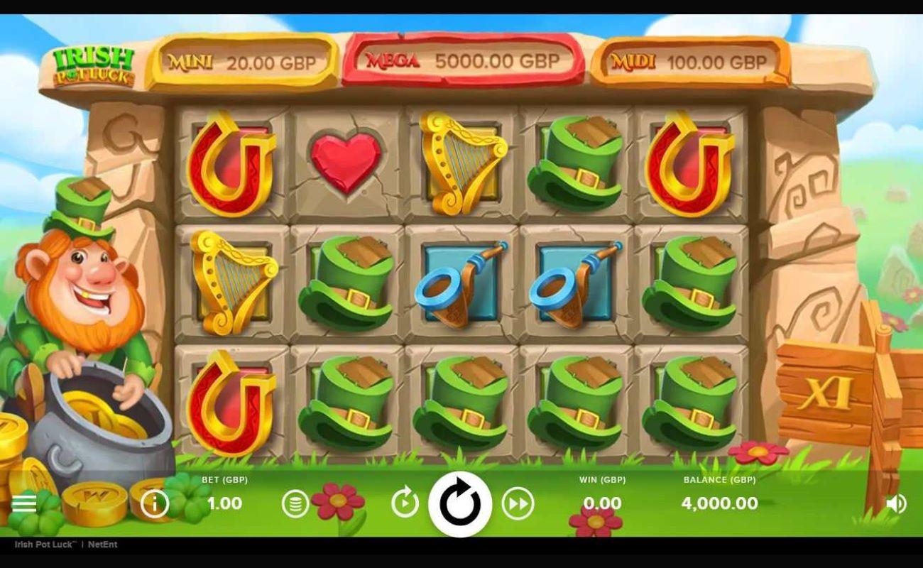 Irish Pot Luck online slot by NetEnt