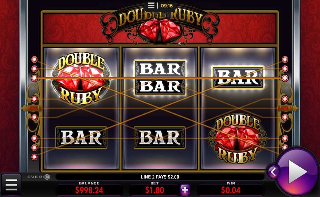 Double Ruby online slot by Everi