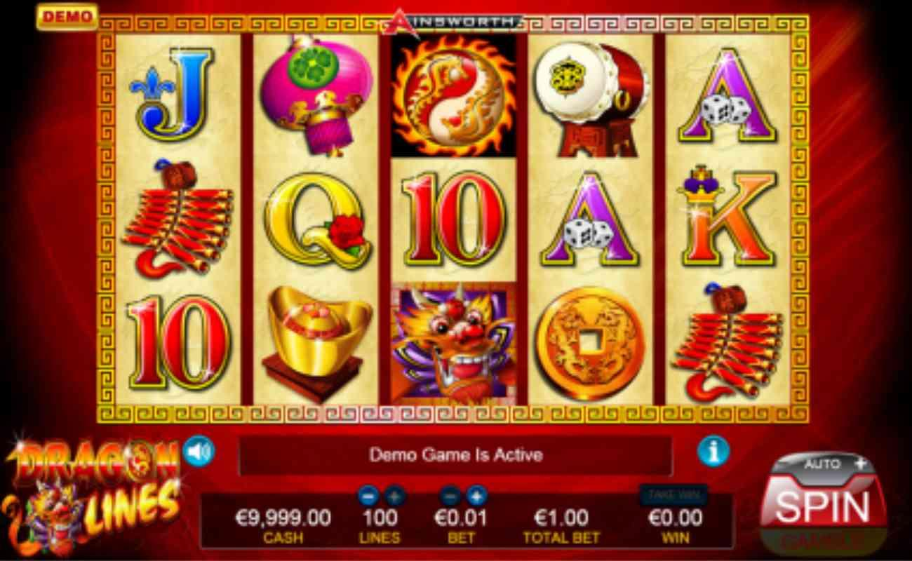 Dragon Lines Super online slot by Ainsworth