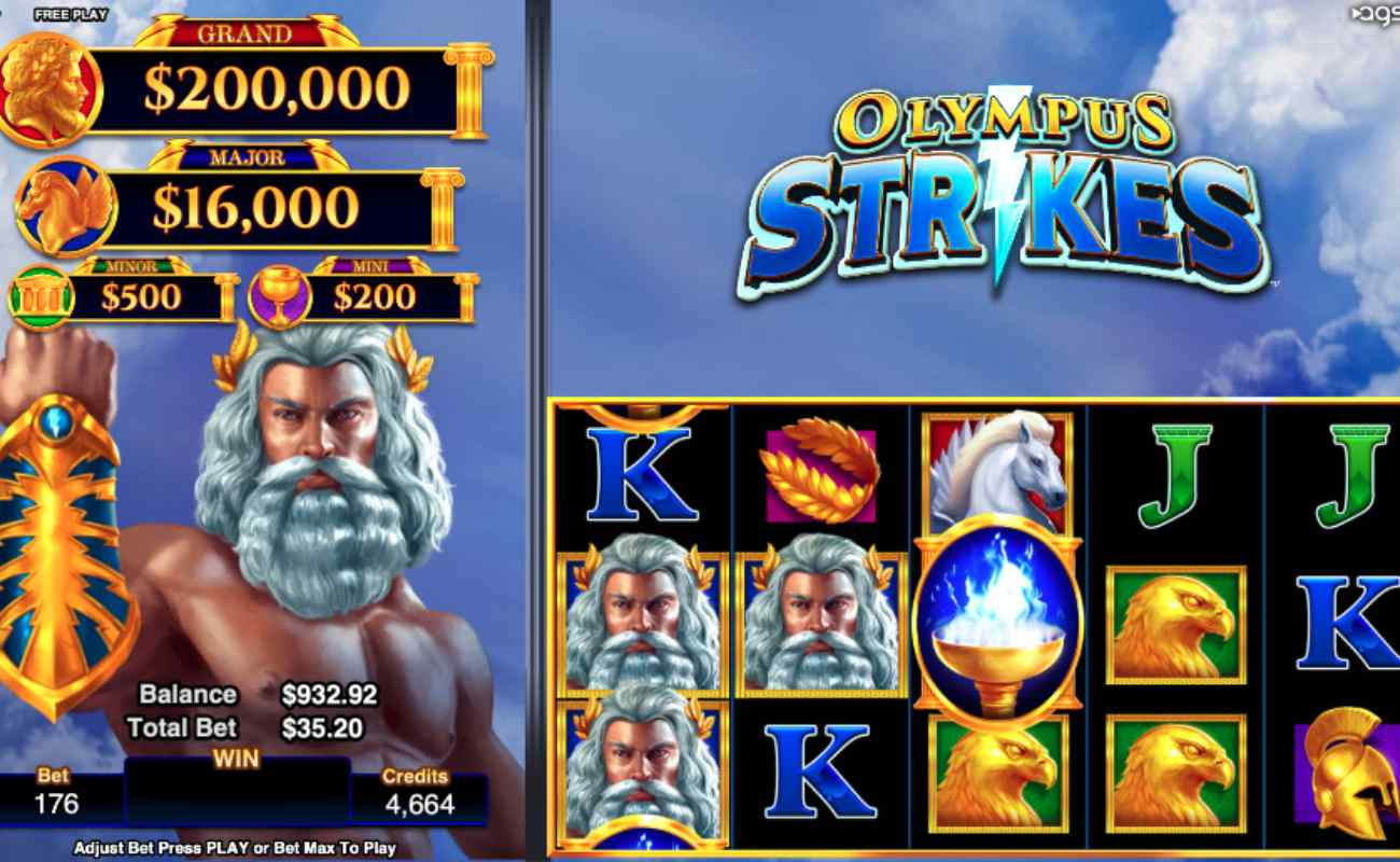 Olympus Strikes online slot by AGS
