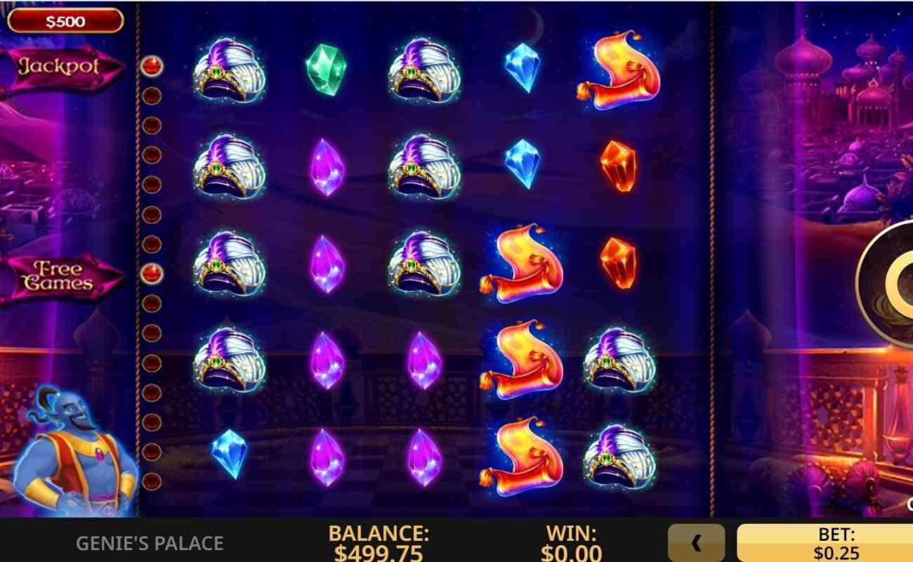 Genie's Palace online slot game by High 5 Games