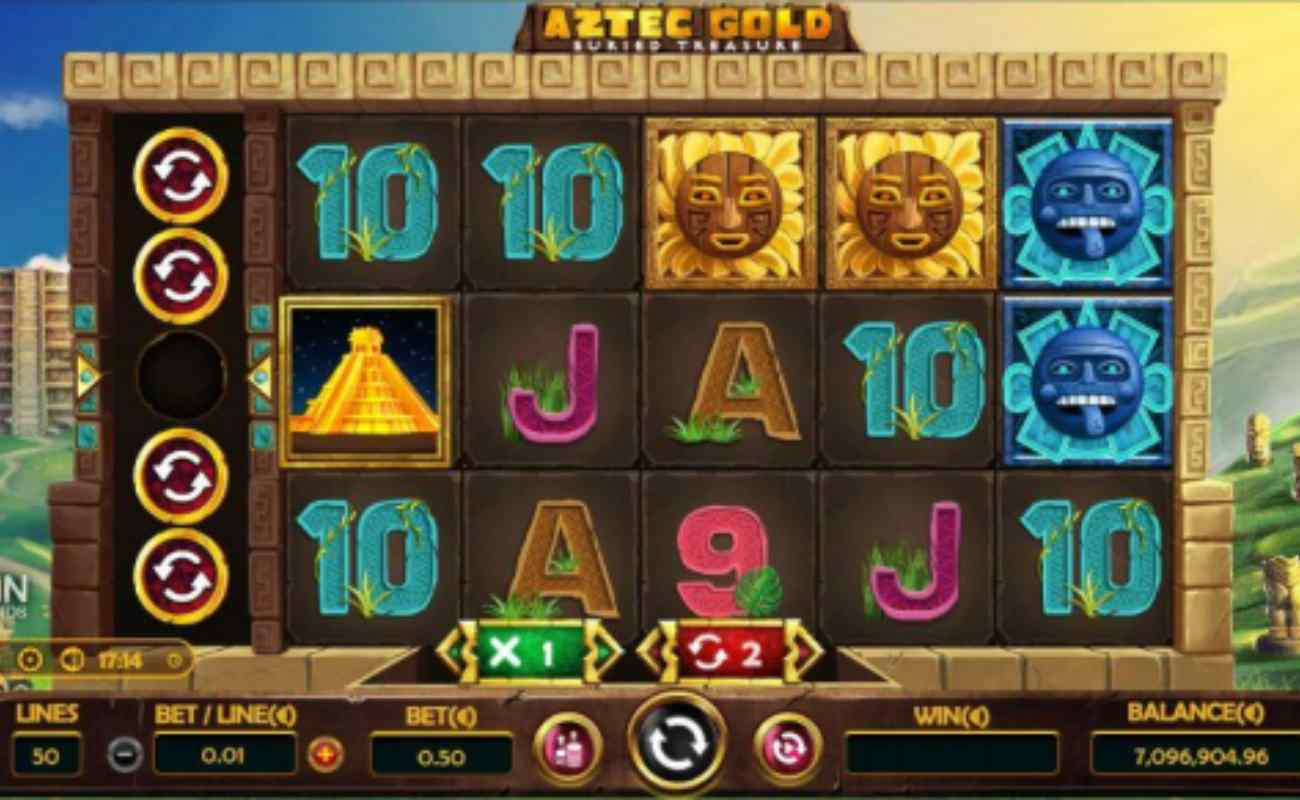 Aztec Gold Buried Treasure online slot by Entain