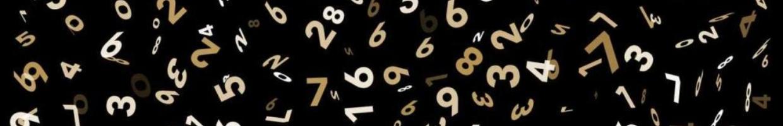 random numbers on black background