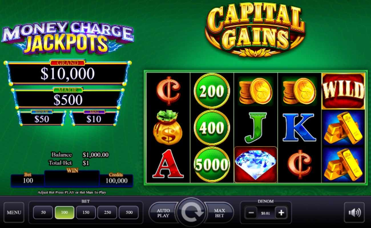 Capital Gains online slot game by AGS.