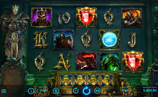 creenshot of Dark King: Forbidden Riches online slot game by AGS.