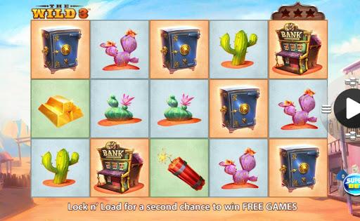 Screenshot of The Wild 3 online slot game by SG Digital/NextGen.