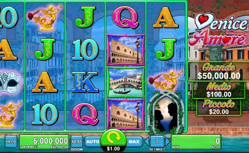 Screenshot of Venice Amore slot by Spin Games.