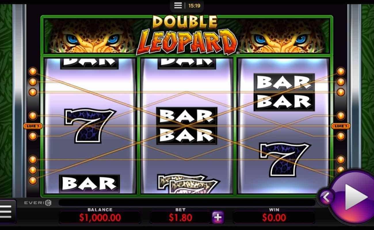 Screenshot of Double Leopard online slot by Everi.