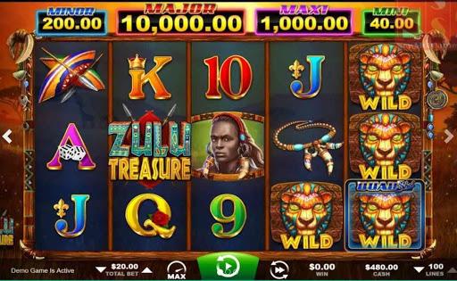 Zulu Treasure online slot by Ainsworth.