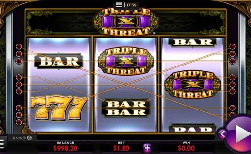 Triple Threat online slot by Everi.