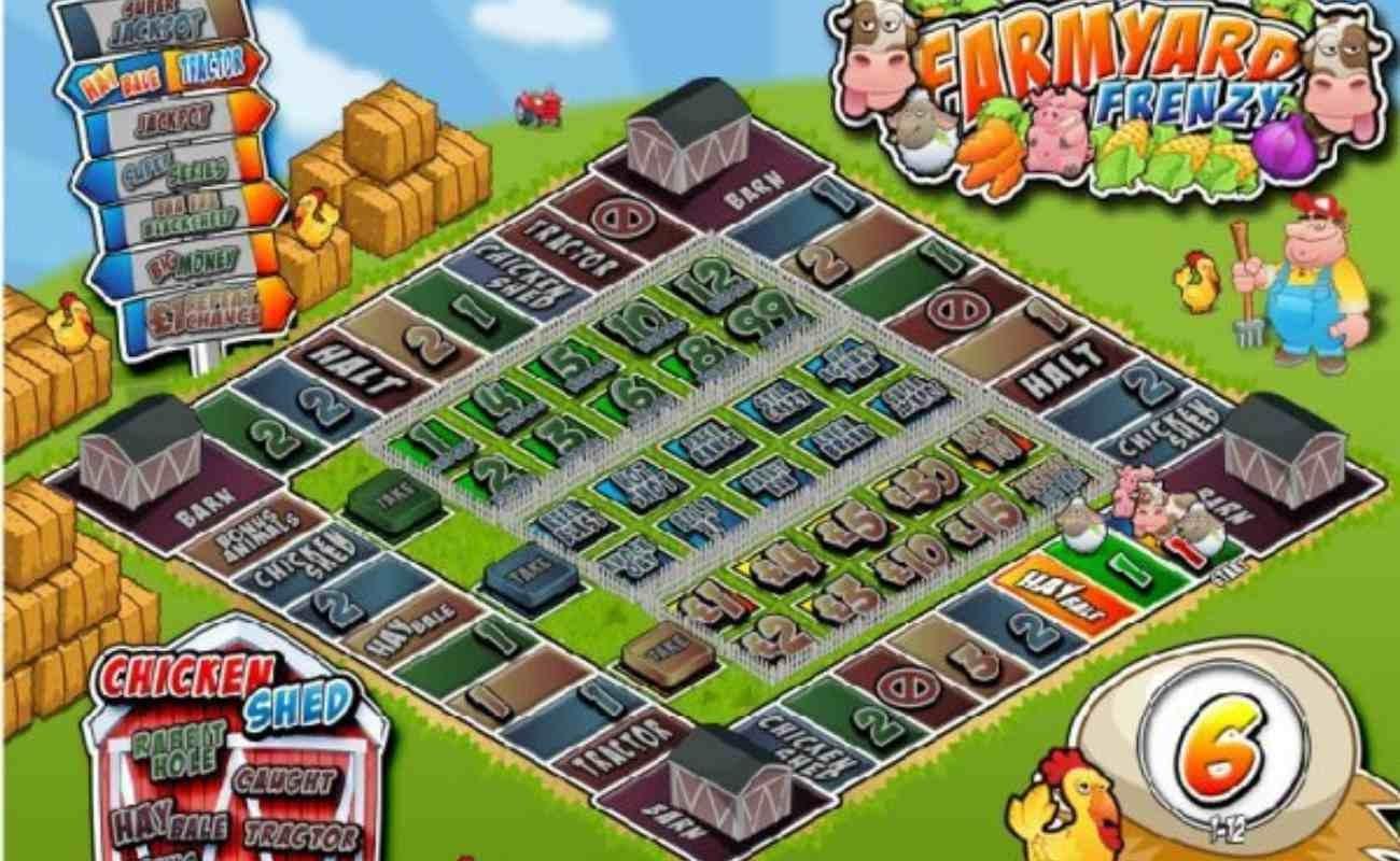 Farmyard Frenzy online slot by GVC.