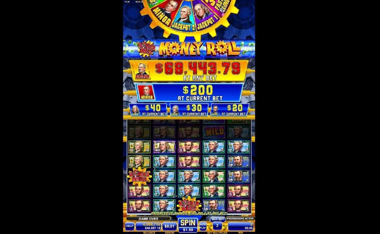 Roller Wheel Money Roll online slot by Spin Games.