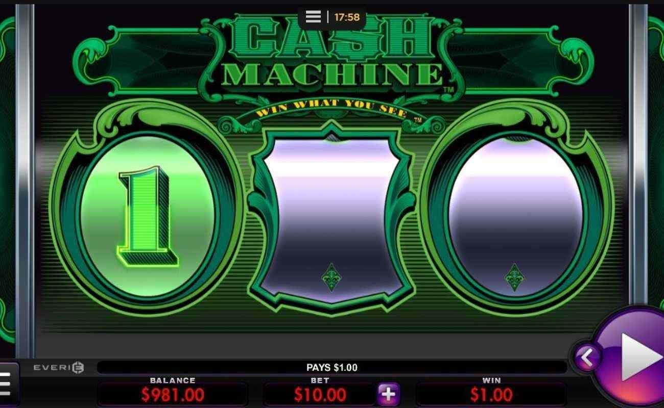 Cash Machine online slot by Everi.