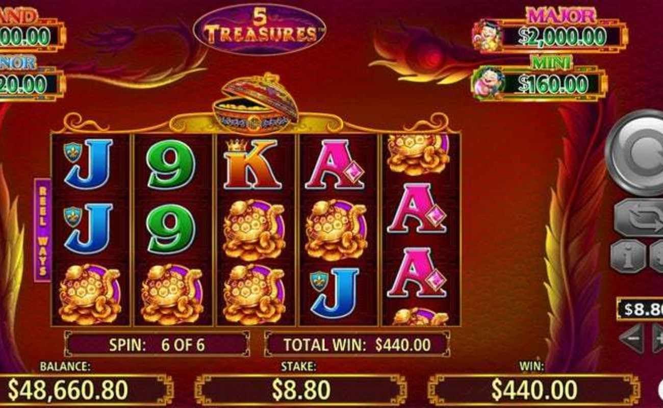 5 Treasures online slot by SG Digital.