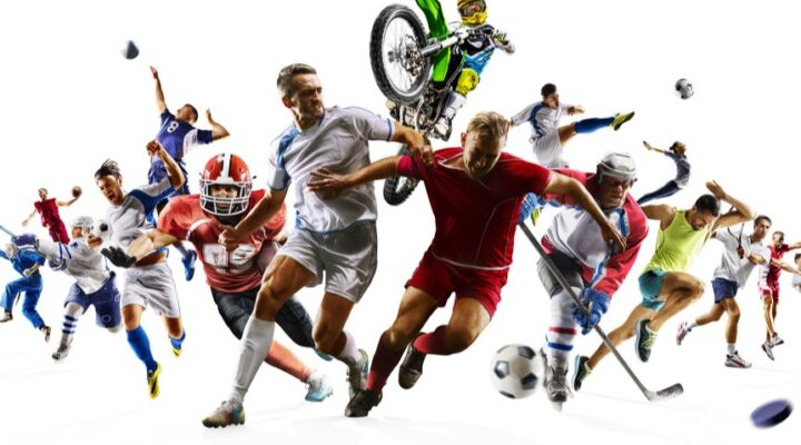 A montage of athletes playing different sports.