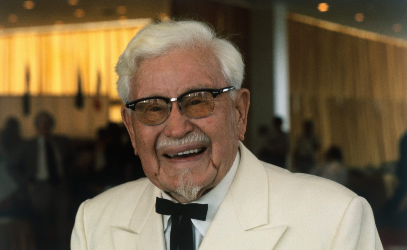 Colonel Harland Sanders, founder of Kentucky Fried Chicken. (Photo by John Olson/Getty Images)