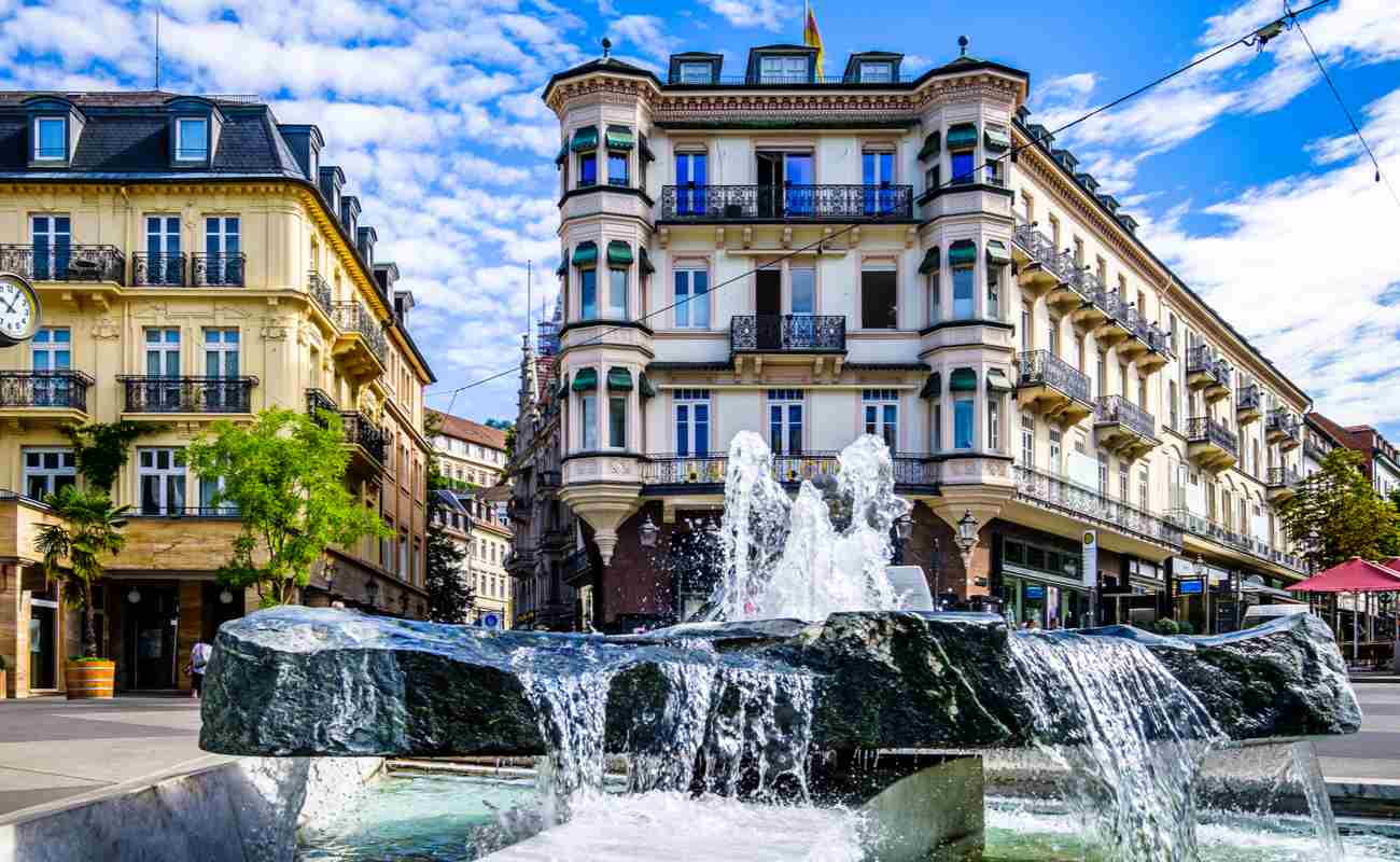 The town of Baden-Baden in Germany.