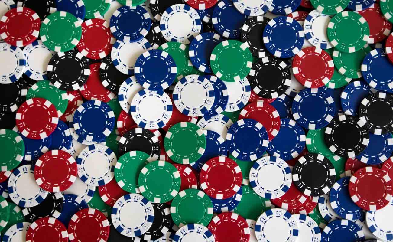 Variety of casino poker chips.