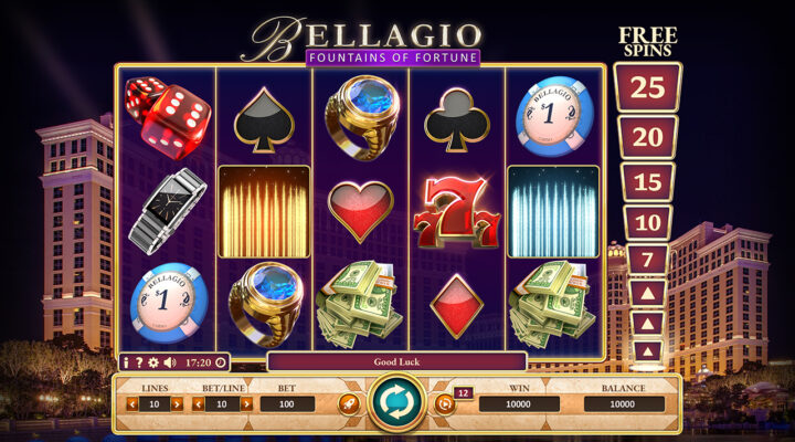 Bellagio Fountains of Fortune playgame
