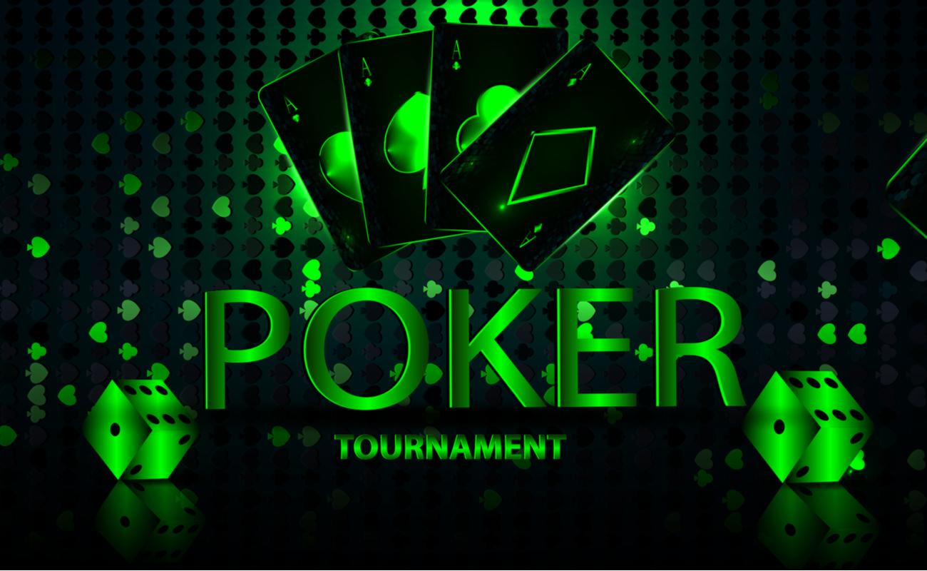 A banner for an online poker tournament.