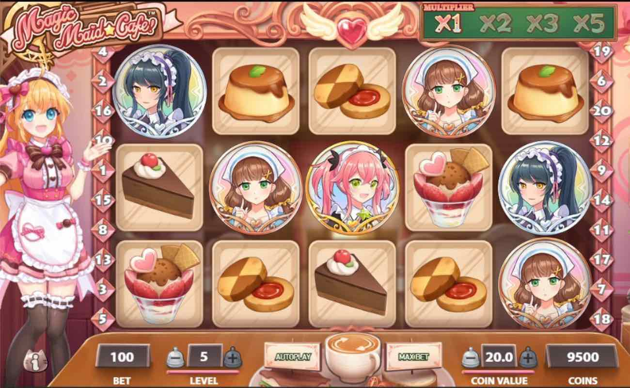 Magic Maid Cafe online slot game by NetEnt.