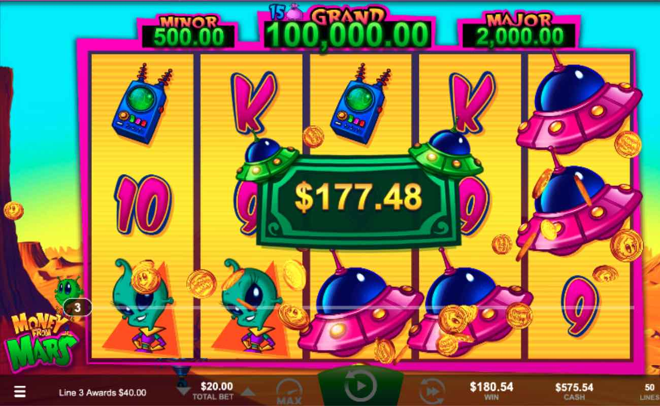 Money From Mars online slot by Ainsworth.