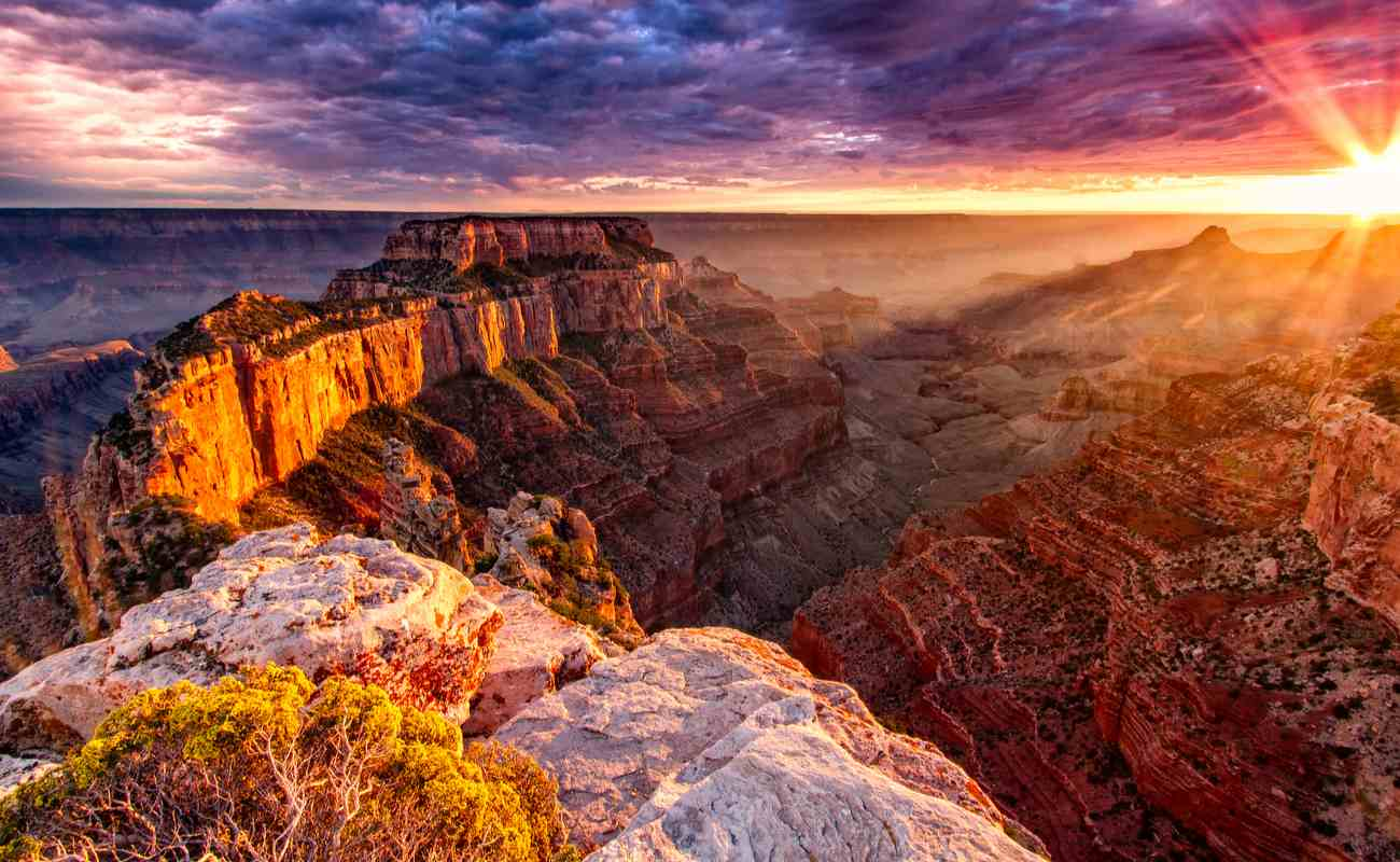 The North Rim of the Grand Canyon.