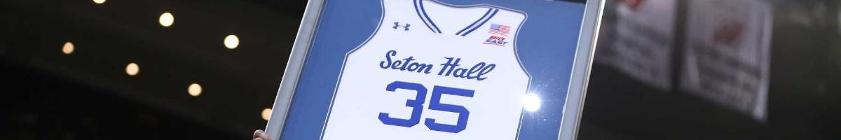Seton Hall Pirates #35 framed basketball team jersey