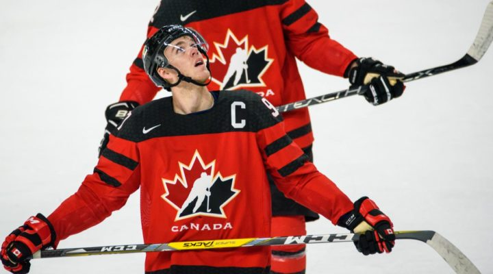 Connor McDavid in a Ice hockey game