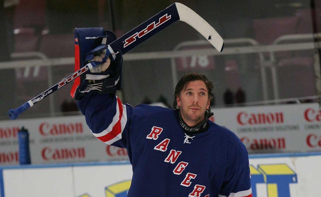 Henrik Lundqvist #30 of the New York Rangers at Madison Square Garden October 17, 2005