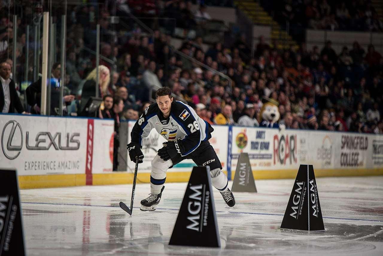Andrew Agozzino during a hockey match