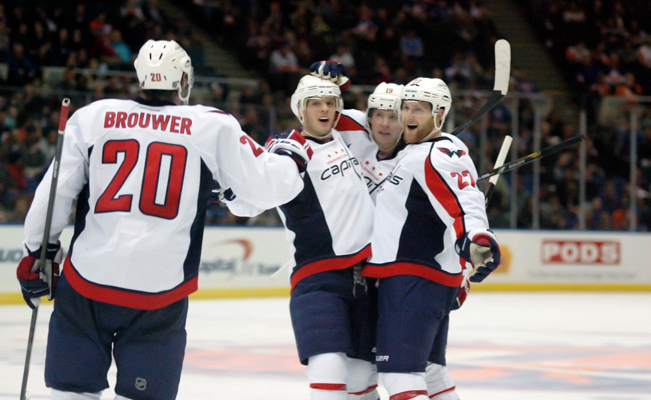 NHL Hockey: Washington Capitals players celebrate